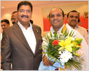 Kudi Vasantha Shetty & Donald Pinto honoured by Karanataka Sangha Abu Dhabi