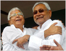Nitish-Lalu reunion after 23 years a 'flop show'