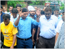 Bantwal: DC Sasikant visits flood-hit areas caused by incessant rains