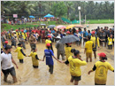 Udupi: ICYM youth enthusiastically partake in rural games at Chokkady