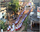 Udupi/M�Belle: Confraternity Sunday observed with devotion and Eucharistic procession