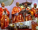 Karkala: Four Bishops along with priests concelebrate the solemn feast mass at St. Lawrence Shrine