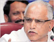 B S Yeddyurappa plays spoilsport for BJP