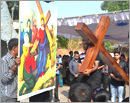 Udupi/M'Belle: Good Friday observed with Way of the Cross and Veneration of the Cross
