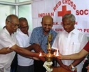 M'lore: MLA J R Lobo offers unto Society Blood Bank set up by IRCS - DK Unit at Lady Goschen