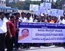 Hassan: United Forum of Dalit Organizations Protest seeking Ministerial Berth to Motamma