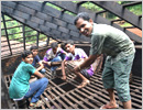 Udupi: ICYM Moodubelle help out in a reconstruction of house of a family as a noble cause