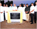Udupi: Bishop Gerald blesses foundation stone of Infant Jesus Church Pilar