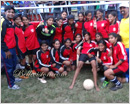 Mangaluru: St. Joseph's PU College Bajpe lifts State Level Football trophy in Bellary
