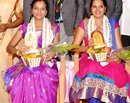 Udupi: Rotary Club felicitates St Mary's College, Shirva - MSW rank students Lata & Sushmita