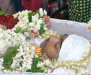 Udupi: Tearful farewell to Austin Alva by a huge number of mourners at Pamboor Church