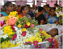 Udupi/Pamboor: Grief and tears of thousands mark the funeral service of Ashwin Dsouza