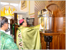 Moodubelle: Udupi Bishop Blesses New Tabernacle in St Lawrence Church