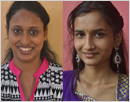 Udupi: Two young women achievers honoured by Tulusiri Yuva Okkuta at Moodubelle