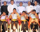 Udupi: National volleyball winners of Mount Rosary Eng Med School f�ted