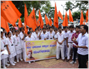 ABVP stages protest condemning attack on students by police