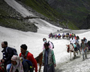 Seventh batch of 3,708 pilgrims leaves Jammu for Amarnath