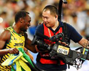 Only man who can topple Usain Bolt: A photographer on a scooter
