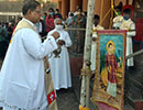 Udupi/M'Belle: Banner of St. Lawrence Hoisted in Preparation for the Annual Feast