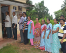 Udupi/M'Belle: People line up at polling booths as first phase of Panchayat elections is in pr