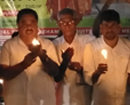 Bantwal: Congress activists hold candle-lit protest to condemn Pulwama attack