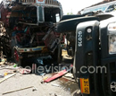 Mangaluru: Bus driver tries precariously to overtake at Kolnad; 3 persons critical