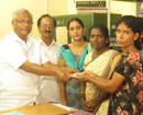 Mangalore: MLA J R Lobo distributes Rs 20,000 each to 5 beneficiaries under National Family Assistan