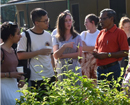 Students from Lancaster University, UK introduced to Jasmine Cultivation in Shankerpura