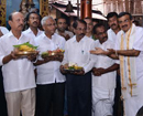 Mangaluru: Kadri temple CEO Ningayya falicitated