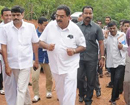 Minister Rai views ongoing road works of Angri to Byrikatte in Kanyana village