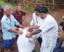 Udupi: Kunjarugiri temple hand-delivers flood relief materials to victims of Uttara Kannada