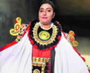 A young Muslim woman gaining popularity in the field of Yakshagana