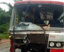 12 injured after goods lorry, KSRTC bus collide head-on at Neerakatte
