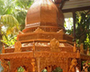 Udupi: Renowned wood sculptor Shivaprasad Achary creates 18' high Rath in 45 days