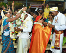 Beltangady: 102 couples wedded during 46th Mass Weddings at Dharmasthala
