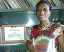 Udupi: Shirva librarian Ammi felicitated for bagging State Staff Service Award