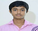 Udupi/M'Belle: Shreyas Kamath of Jnanganaga PU College Secures 5th Rank in the State