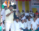 Congress stages sit-in against apathy of union & state govt for not assisting flood victims