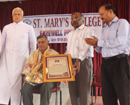 Udupi: Emotional befitting Farewell to Prof.Pascal Walter D'Sa of St. Mary's College