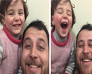 Syrian father teaches daughter to laugh when the bombs fall