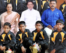 Udupi: Public felicitation held for National-level Volley ball winners in Santhekatte
