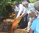 Udupi/M'Belle: Water and soil conservation drive by Lions Club and NSS Unit of St. Lawrence PU Colle