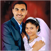 Praveen Alban and Sarina Sharal